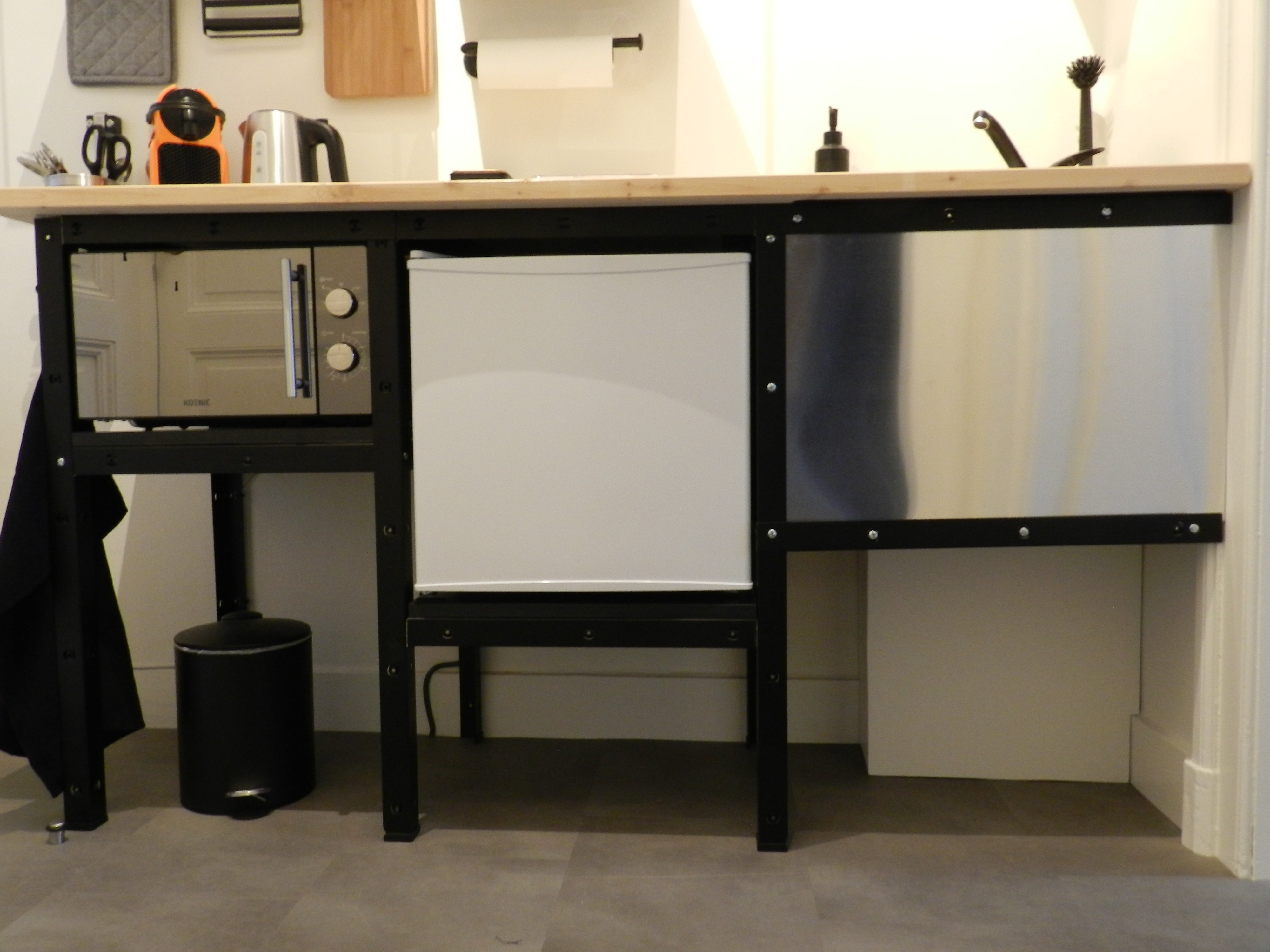 Kitchenette made with Ikea components
